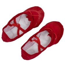 Girl's Ballet Flat Dance Shoes for Kids UK Size 11 - Red M8V6