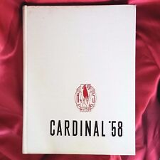 1958 '58 Cardinal yearbook Whittier High School California writing signatures