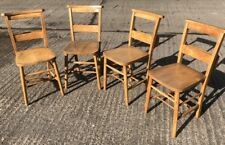 SUPERB SET OF VINTAGE CHAPEL/KITCHEN DINING CHAIRS -  42 AVAILABLE
