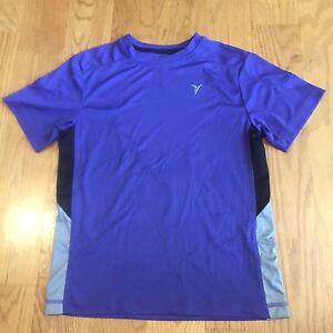 OLD NAVY Boys Kids Purple Athletic Short Sleeve Active Shirt Size Medium M 8 EUC