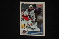 JEAN-LUC GRAND-PIERRE 2001-02 UD VICTORY SIGNED AUTOGRAPH CARD #106 BLUE JACKETS