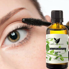 Eye brow Lash Enhancer Growth Boost Serum Pure Organic Castor Oil 100% Natural