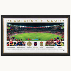 Melbourne 2021 AFL Premiers Official Panoramic Perth Stadium Print Framed + COA