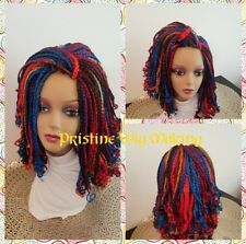 "Gorgeous  Box Braided WIG no lace front  Multi-colored  12"" to 14"""