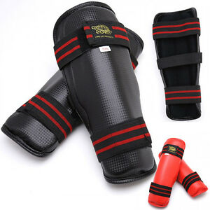 Shin Guard Sparring Training Karate, Taekwondo Kickboxing protector - All sizes!