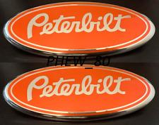 PETERBILT 2005-2014 Ford F150 250 350 GRILLE TAILGATE 9'' Oval Emblem Badge Red