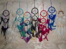 Set of 4 assorted 6cm double ring mini dream catchers - pick your colours