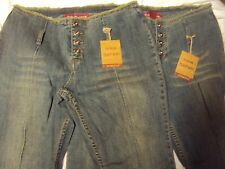 Ladies Safari Jeans 2 Pair Adult Size 13 34 Waist x 31 Length New With Tags!