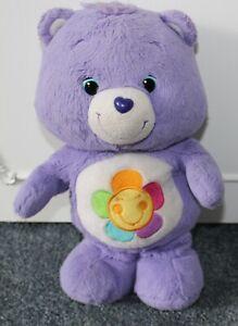 """Official Care Bear ~ HARMONY Bear, Purple Rainbow flower 13"""" Plush Soft Toy"""