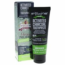 Activated Charcoal Fluoride Free Toothpaste Natural Teeth Charcole Whitening 4oz