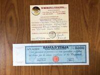 REPUBBLICA LIRE 5000 TITOLO PROVVISORIO 8 4 1947 MOLTO RARA TESTINA BB