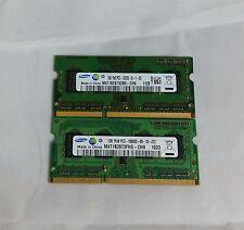 Samsung 2GB 2x1GB DDR3 PC3-10600S 1Rx8 LAPTOP MEMORY RAM
