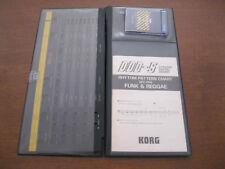 Vintage KORG DFC-P04 Memory Card DDD-5 ORIGINAL case, overlay + pattern chart