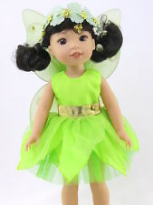"Tinker Bell Inspired Fairy Dress Fits Wellie Wishers 14.5"" American Girl Clothes"