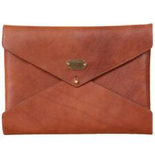 Leather Notepad Folder Envelope Style Business Pocket Brown USA Made Emissary