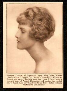 1920 PLYMOUTH WINNER SPORTS GIRL BEAUTY CONTEST AMAMI SHAMPOO ADVERT POSTCARD