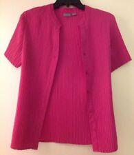 Women's Laura Scott Short Sleeve Dress Shirt Size Large