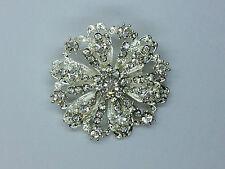 1 x beautiful Rhinestone Diamante crown  BROOCH for invitation