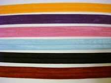 12 yards Fold Over Elastic/Spandex Color Band/trim/sewing/trimming/lace T155-Mix