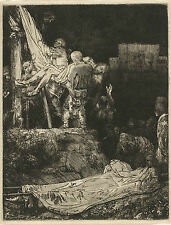Rembrandt Reproductions: Descent from the Cross by Torchlight -  Fine Art Print