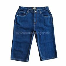New Mens Denim Shorts Long Style Blue Sz 35 89 cm Waist G1