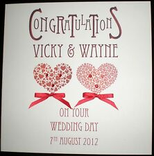 PERSONALISED HANDMADE ANNIVERSARY WEDDING ENGAGEMENT CONGRATULATIONS CARD