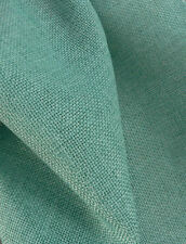 Drapery Fabric Colored Polyester Burlap Tight Weave Anti-Wrinkle - Tiffany Blue