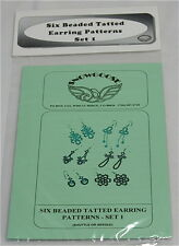 6 Beaded Tatted Earring Patterns - Shuttle or Needle Tatting - Pattern Pack 1