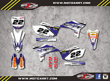 Yamaha YZF 250 2010 - 2013 full custom graphics kit SHOCKWAVE style decals