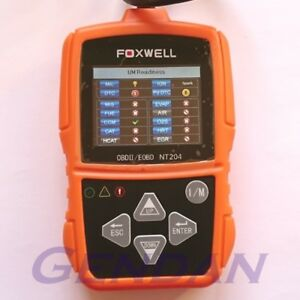 Foxwell NT204 EOBD OBD-II OBD2 Diagnostic Scan Tool with Live Data Graphing