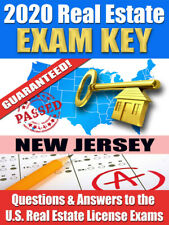 2020 NEW JERSEY PSI Real Estate Exam Prep Study Guide Questions & Ans. [CD-ROM]
