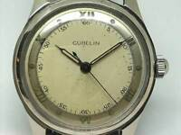 Antique GUBELIN Hand Winding Watch Vintage 1950s 17Jewels 30mm Swiss Made