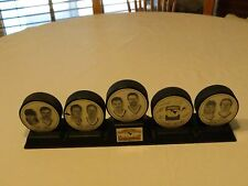 Pittsburgh Penguins Northeastern Champions 1995-1996 hockey puck RARE 5 pucks