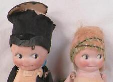 2 Kewpie Dolls Rose O'Neill Bride & Groom Orig Clothes Antique Germany 1913