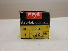 10 NIB FEDERAL PACIFIC NA NA150 CIRCUIT BREAKER 50A 50 AMP 1P 240V BOX OF 10