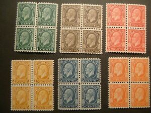 Canada.1932.KGV Medallion blocks.195-200.MH.See descriptions.AS IS