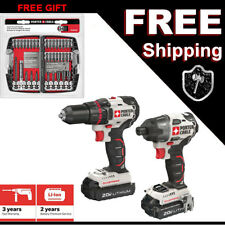 NEW PORTER CABLE 20 Volt  Drill Impact Brushless Cordless Combo Kit PCCK618L2