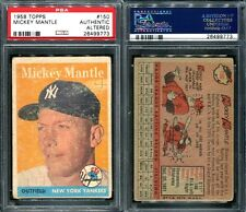 1958 TOPPS #150 MICKEY MANTLE PSA 0 AUTHENTIC ALTERED (9773)