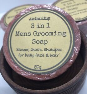 2 X Handmade, Natural 3 In 1 Mens Grooming Soap..soap only