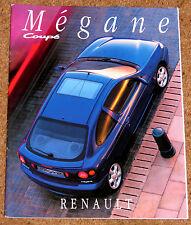 1996 RENAULT MEGANE COUPE Large Format UK Launch Brochure - 1.6e 2.0, 16V
