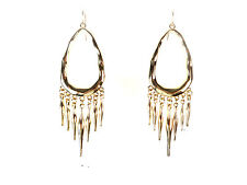 Brand New Unique Bold (Cl8) Elegant Ladies Gold Drop Tassel Earrings