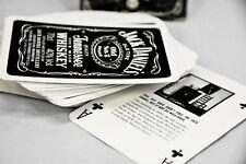 Jack Daniels whisky, Bicycle poker naipes, editon Black, juego de cartas