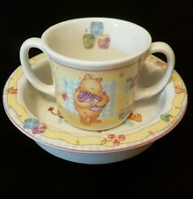 Royal Doulton Winnie the Pooh Baby Bowl and Two Handled Cup Gift Collection 2001