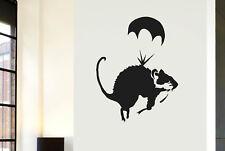 Banksy Rata Parachute Vinilo Pegatinas De Pared Adhesivo Decoración