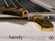 Luxury Gold Bar 16GB USB Flash Drive Portable Pen Drive Storage Gift