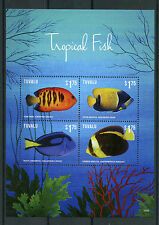 Tuvalu 2015 MNH Tropical Fish 4v M/S II Marine Angelfish Surgeonfish Fishes