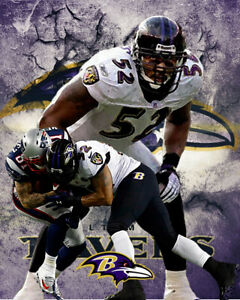Baltimore Ravens Lithograph print of Ray Lewis