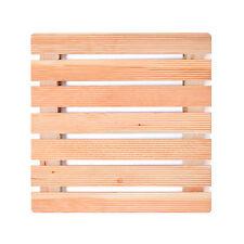 Pedana antiscivolo per la doccia cm 50x50 in legno di larice con assi e gommini