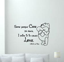 Winnie the Pooh Quote Wall Decal Vinyl Sticker Nursery Disney Love Decor 173crt