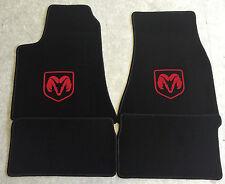 Autoteppich Fußmatten für Dodge Charger ab 2005' schwarz-rot 4teilig Neuware